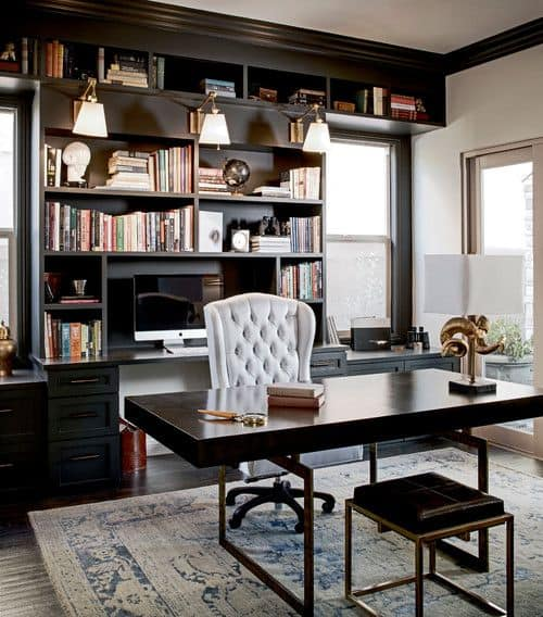 Home Office Design Gallery: 65+ Home Offices With An Area Rug (Photos)