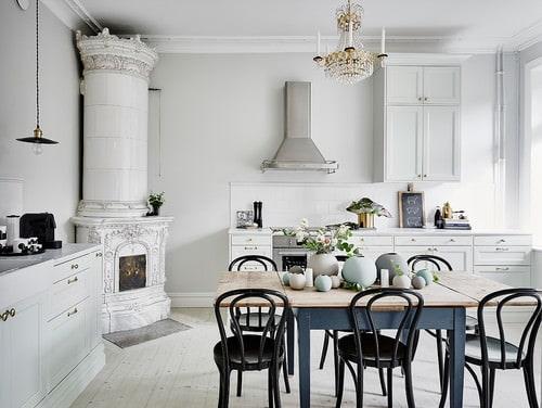 Merveilleux Victorian Kitchen With Black Cabinets, Black Appliances And Beige  Backsplash.Photo By Kitchen Designs By Ken Kelly, Inc. (CKD, CBD, CR)    Browse Kitchen ...