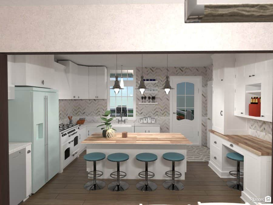 Beautiful Kitchen Designed With Planner5D Software Part 94