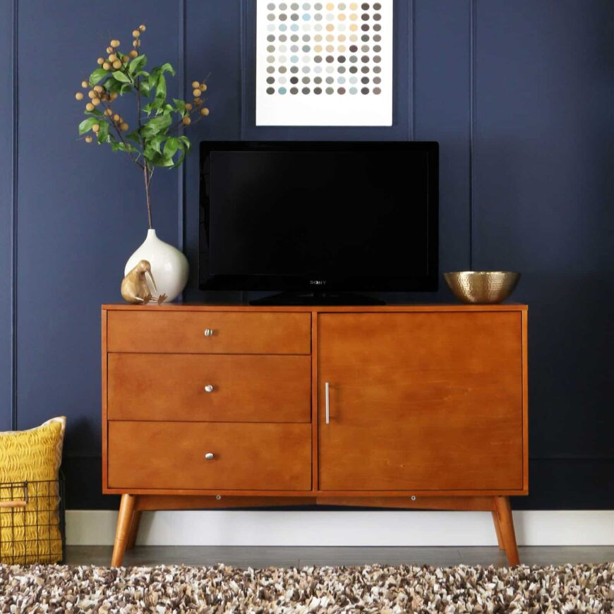 Mid-century TV console table.