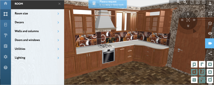 Prodboard kitchen design interface