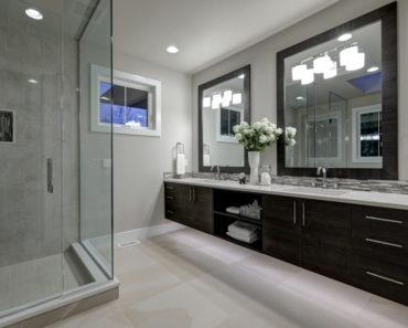 Remodelled master bathroom.
