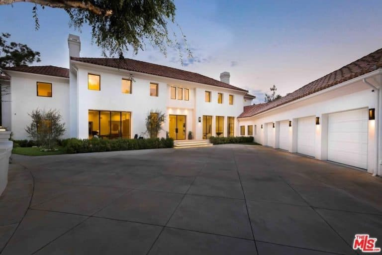 Eva Longoria's Beverly Hills Traditional style mansion was recently remodeled and expanded.