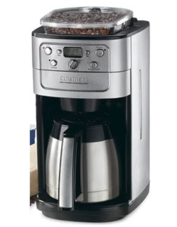 12 cup coffee maker with coffee bean grinder by Cuisinart