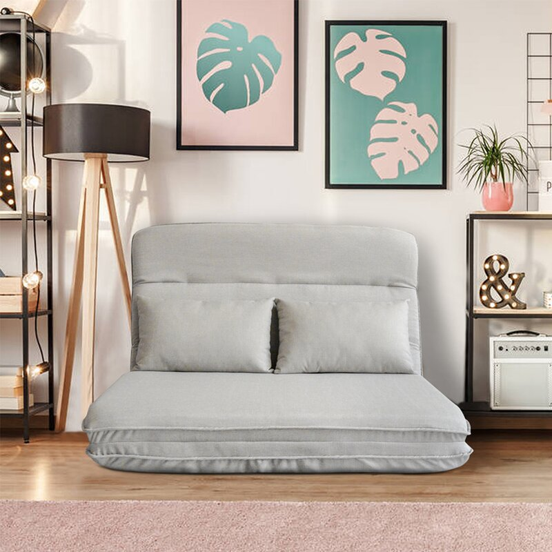 The Angelyne Cushion Back Futon and Mattress from Wayfair.