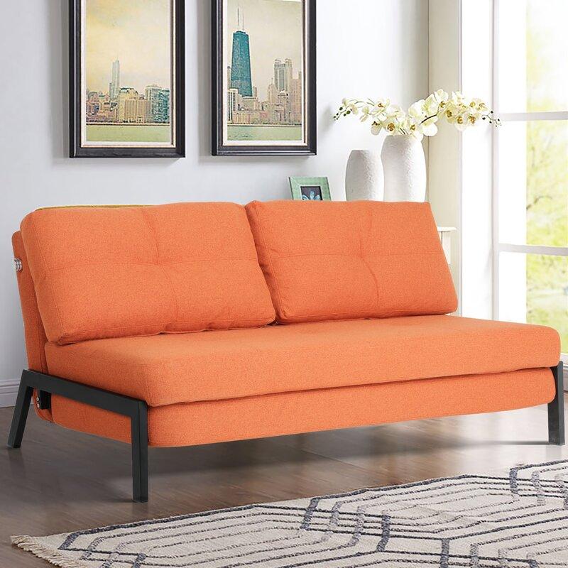 The Artemiy Cotton Split Back Convertible Sofa from Wayfair.