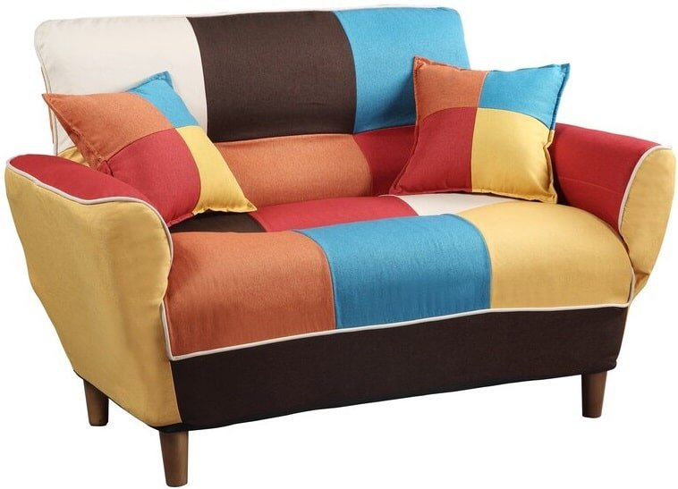 The Gilleland Wide Round Arm Convertible Sofa from Wayfair.