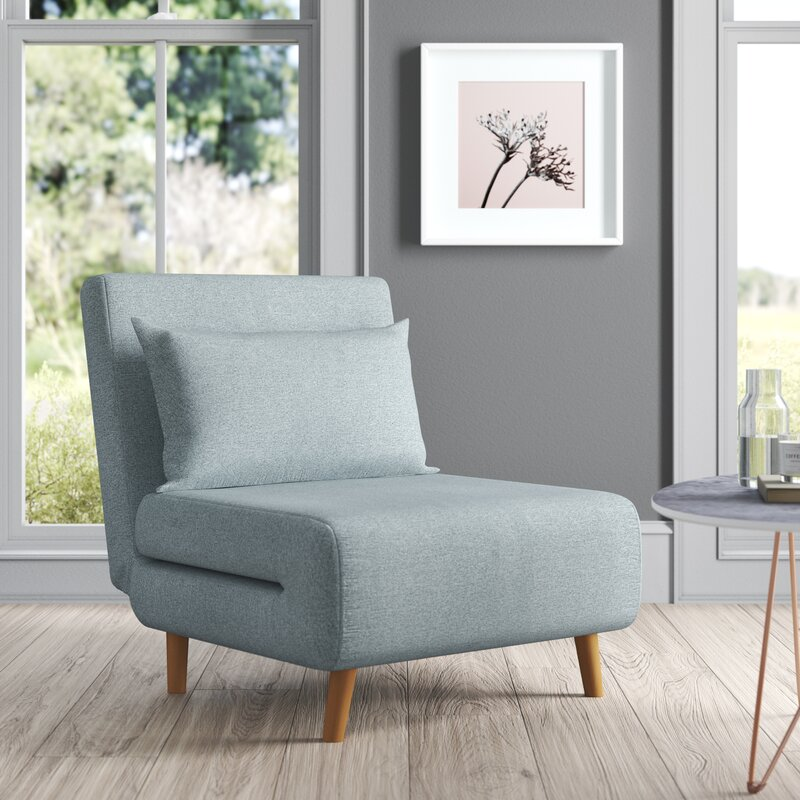 The Tannis Pillow Back Chair from Wayfair.