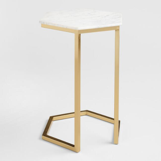 C-shape side table.