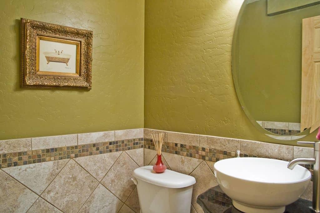 Famous Powder Room Wall Tile Ideas Ideas - Wall Art Design ...
