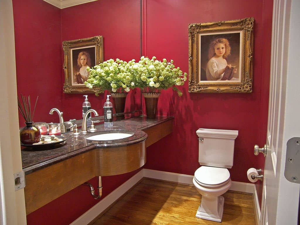 20 Red Powder Room Ideas For 2018