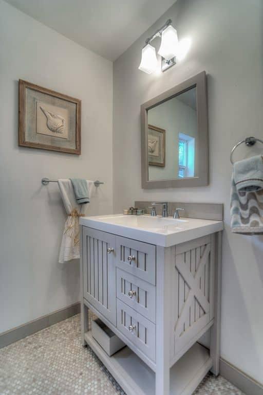 60 gray powder room ideas for 2018 for Martha stewart small bathroom ideas