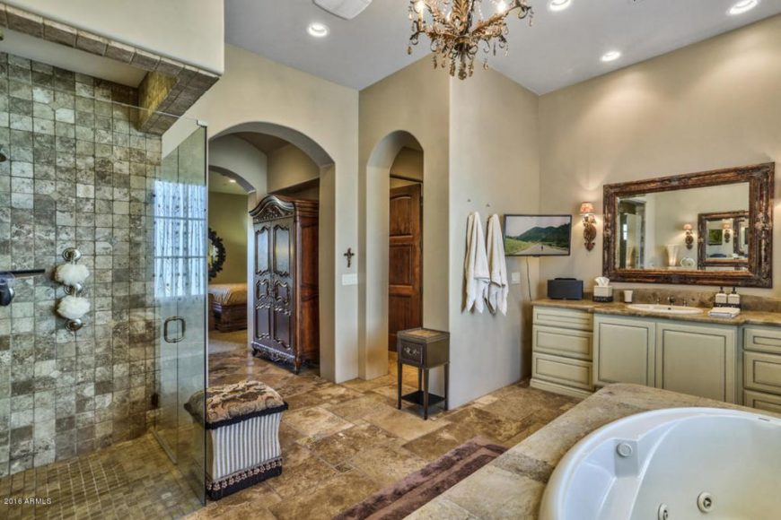 50 Master Bathrooms With Chandelier Lighting (Photos
