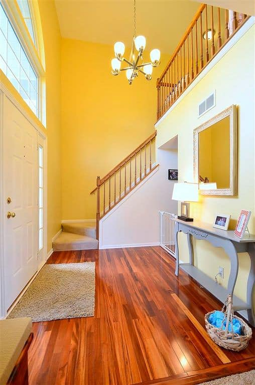 Foyer Tile Yellow : Foyer design ideas for all colors styles and sizes