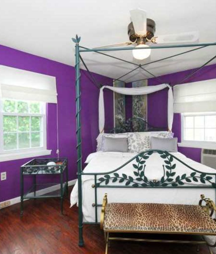 Traditional Master Bedroom With Ceiling Fan Light