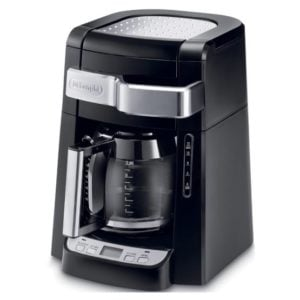 Compact 12-cup drip brew coffee maker by DeLonghi