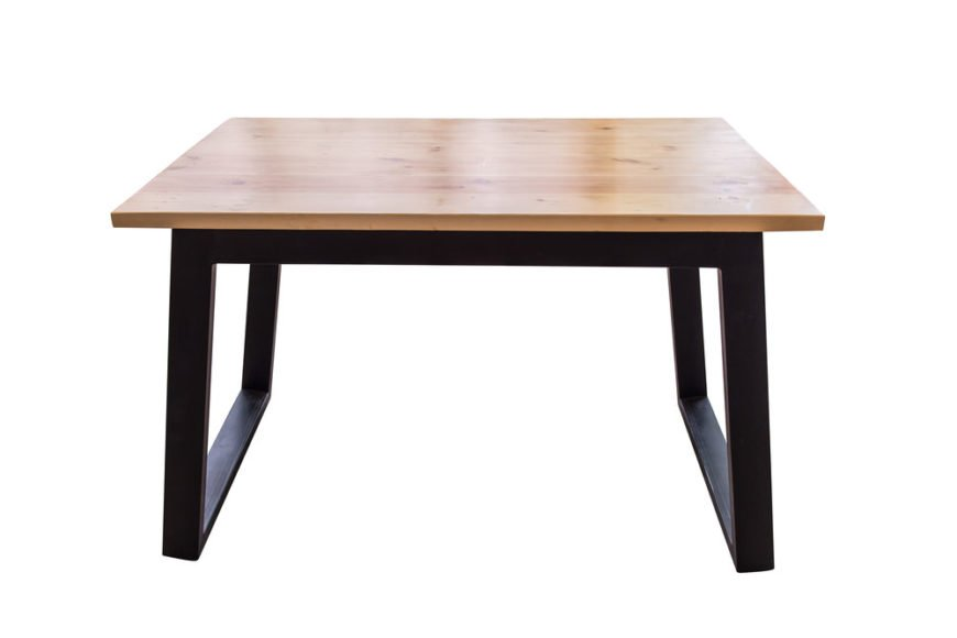 4-leg trestle hybrid dining table.