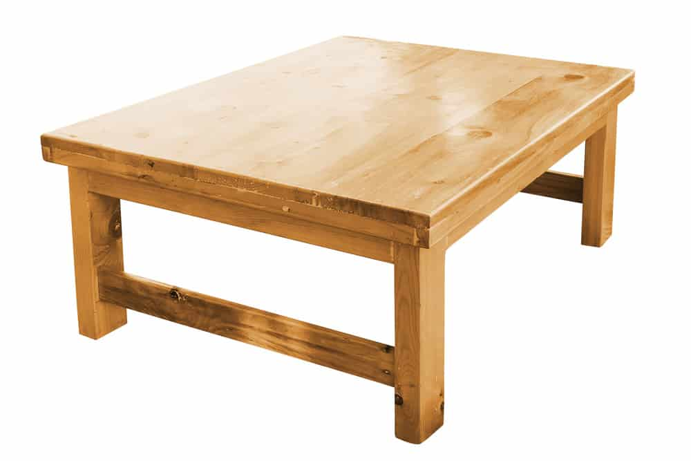 4 Legged Dining Table With Cross Beams