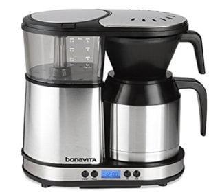 5-cup stainless steel carafe compact coffee maker by bonavita