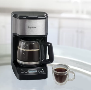 Mini 5-cup drip brew coffee maker by Capresso