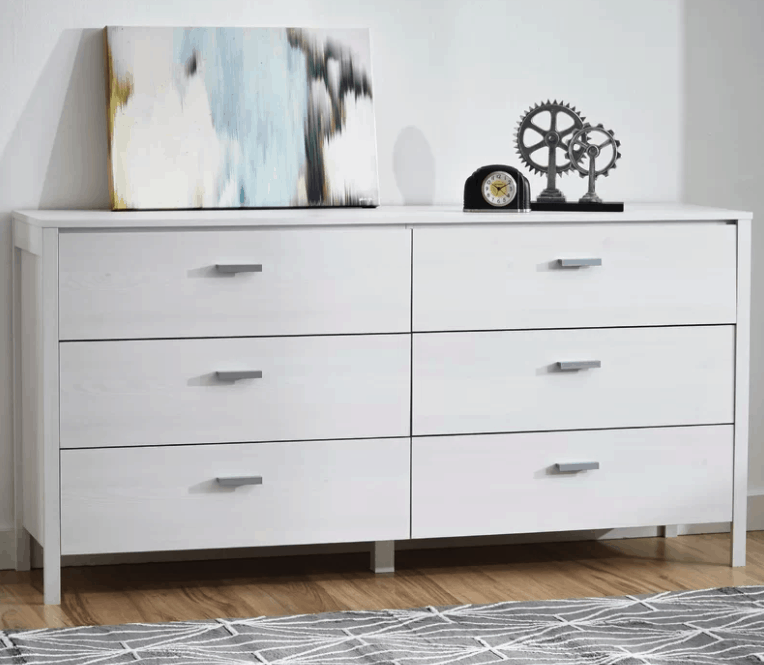 White 6 Drawer Dresser Under 200