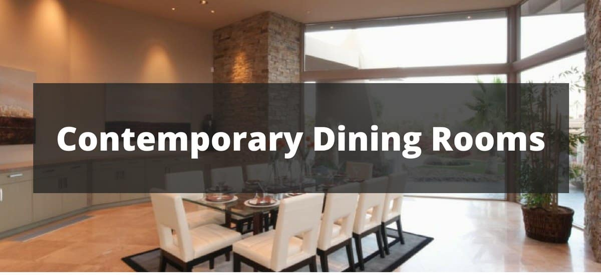 90 Contemporary Dining Room Ideas for 2018
