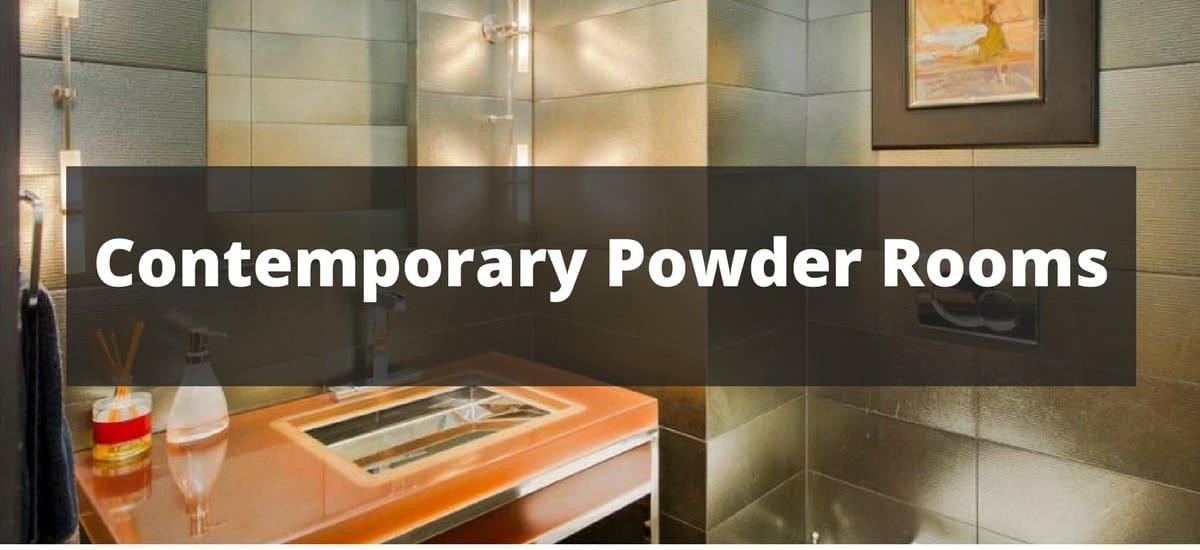 80 Contemporary Powder Room Ideas for 2018