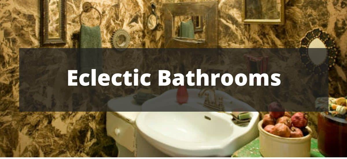 40 eclectic bathroom ideas for 2018 for Eclectic bathroom ideas