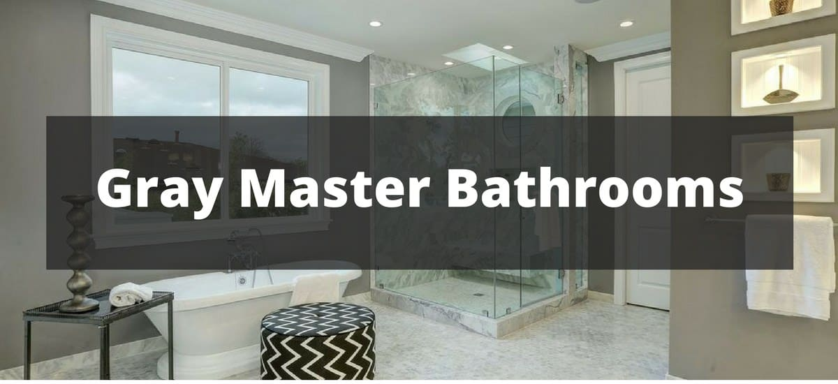 95 gray master bathroom ideas for 2018 for Master bathroom 2018