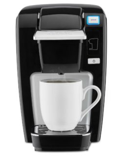 Compact Keurig K15 mini plus single cup coffee maker