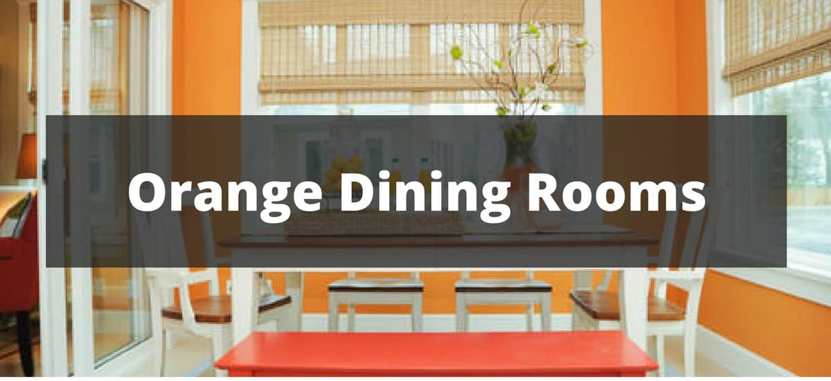 20 orange dining room ideas for 2018 for Orange dining room design ideas
