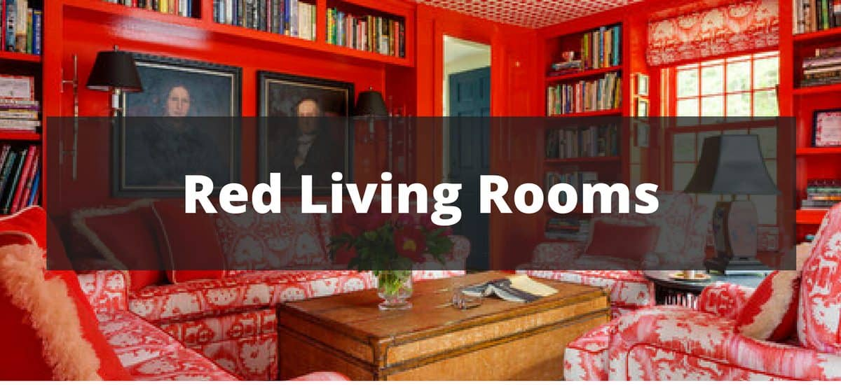 35 Red Living Room Ideas for 2018