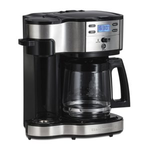 Single serve K-cup and drip pot coffee maker combo by Hamilton Beach