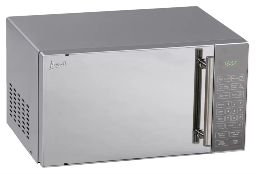 Windowless stainless steel small microwave by Avanti Products.