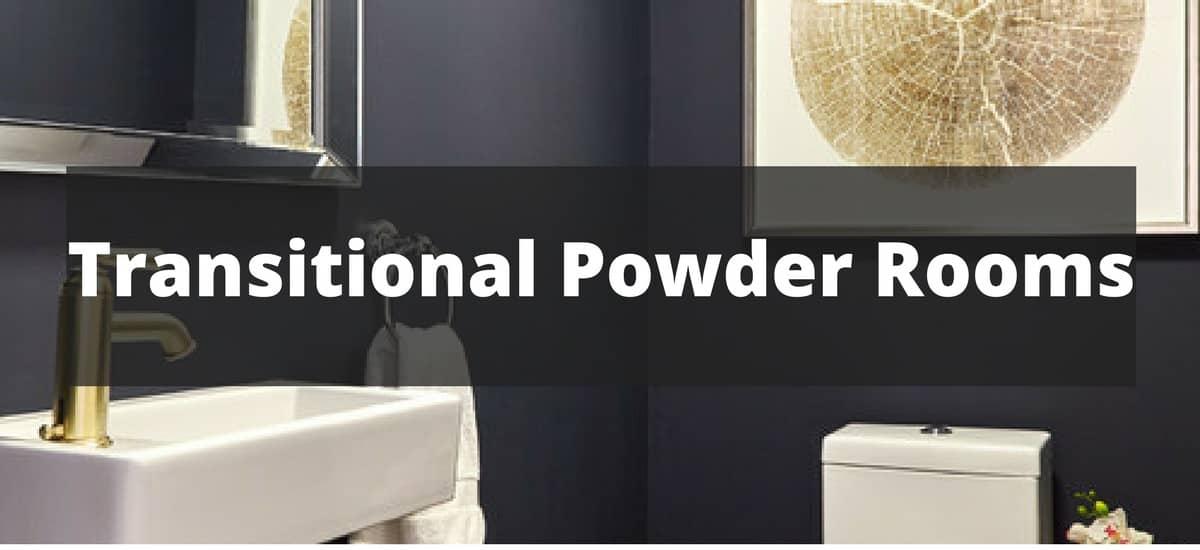 20 transitional powder room ideas for 2018 - Small powder room ideas 2018 ...