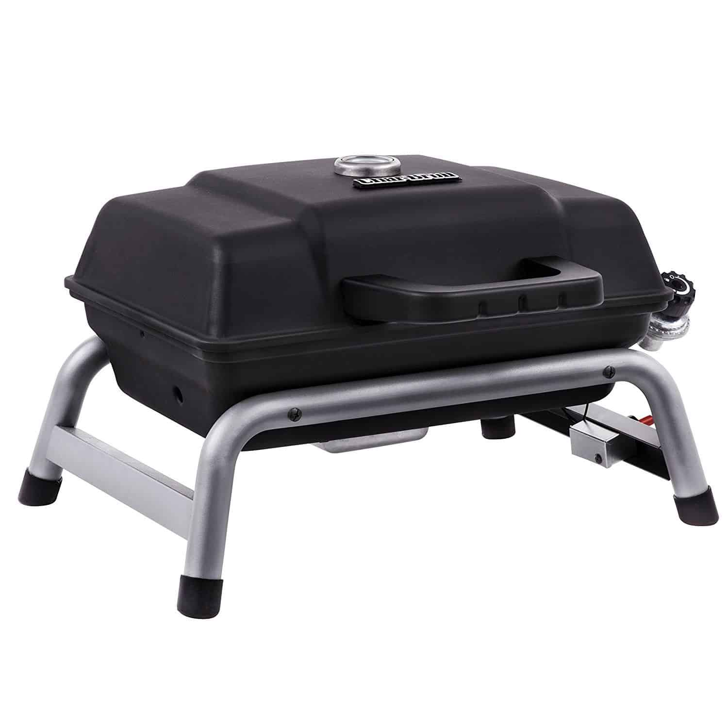 Portable Gas Grill With Enclosure Painted And Supported By A Four Legged  Rubber Footings