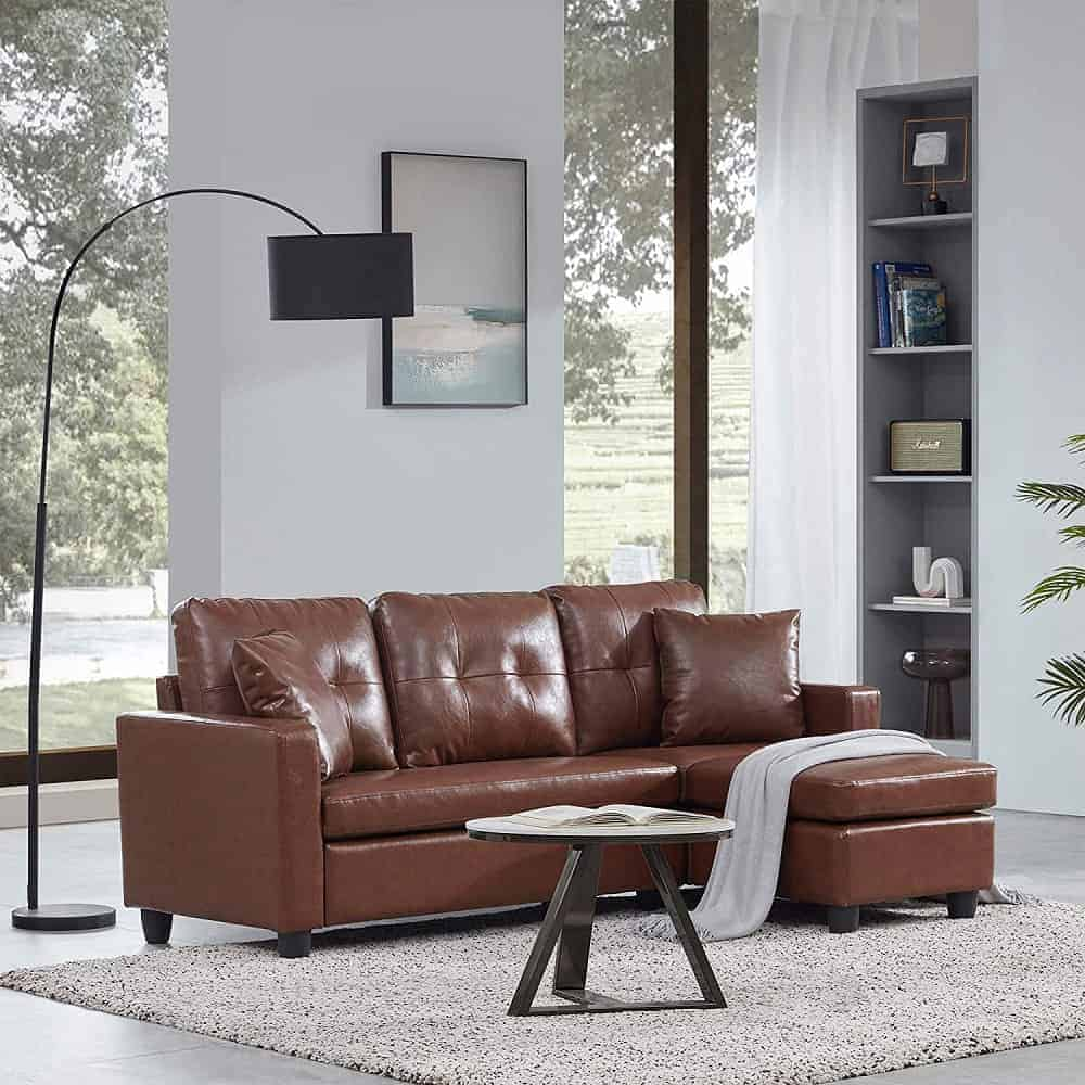 The BELLEZE Altera Convertible Sectional Sofa from Amazon.