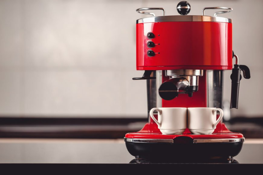 Partial automatic red espresso machine