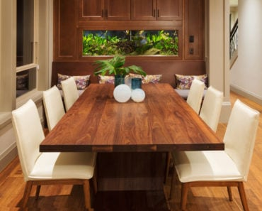 Awesome large dining room table.