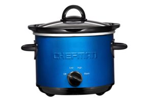 Blue 1.5 quart small slow cooker by Chefman