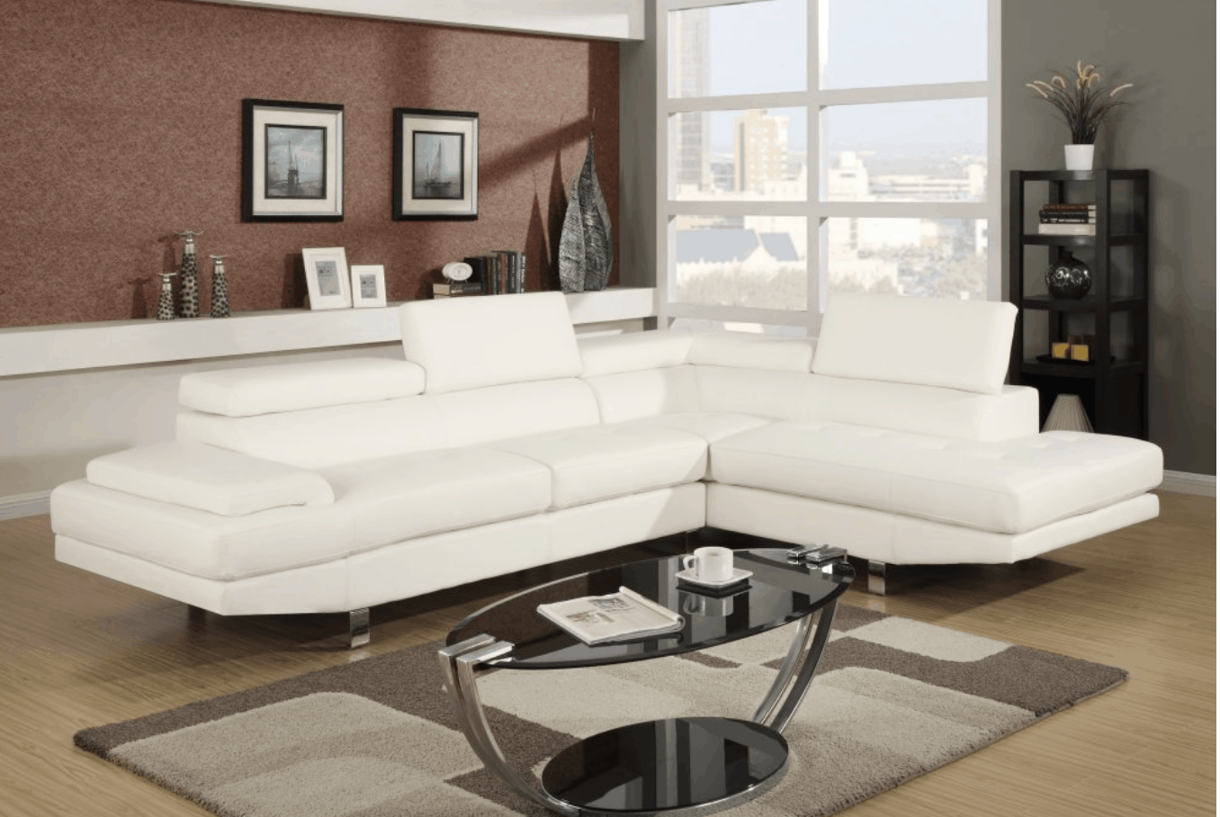 Compact Modern Sectional Sofa