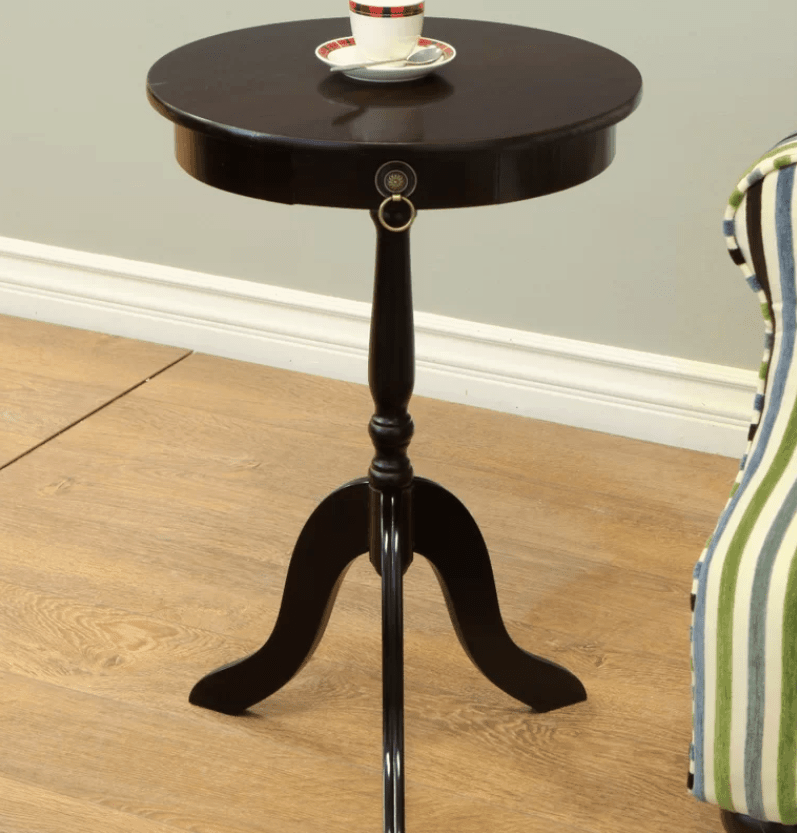 Bon Small Round Pedestal Accent Table
