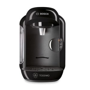 Compact Tassimo T12 single cup coffee maker that uses T-discs