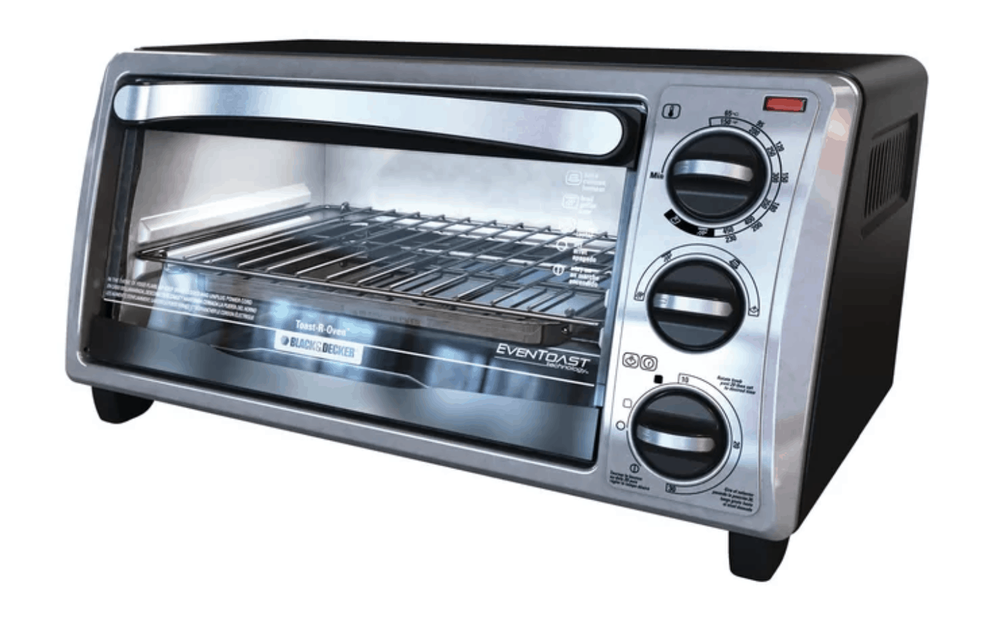 Compact Black & Decker toaster oven