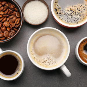 Photo of different types of coffee
