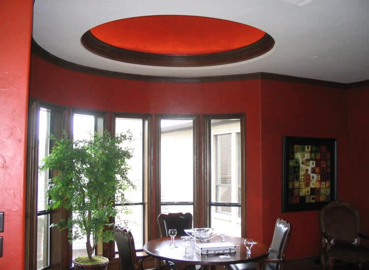 Dining room with dome ceiling