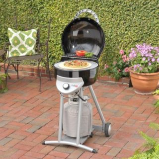 A dome-shaped propane gas grill with plenty of space for cooking.