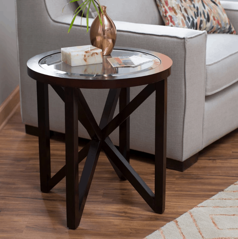 Finley Home Webster Round End Table
