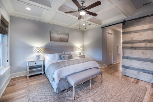 Beau Mid Sized Master Bedroom In Neutrals Of Beige, Gray And White Achieve In  Creating An Inviting, Coastal Feel.Photo By La Vie: 30A Beach House Rental    Search ...