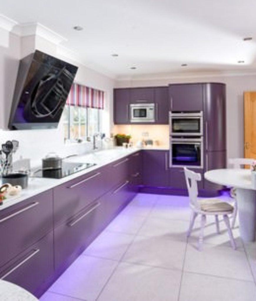 Purple Kitchen Island - Opendoor